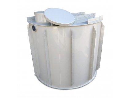 1,5m3 kruhová nádrž na vodu k obetonování
