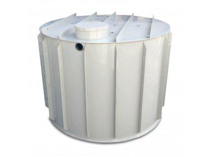 15m3 kruhová nádrž na vodu k obetonování