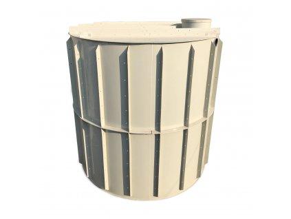 20m3 kruhová nádrž na vodu k obetonování