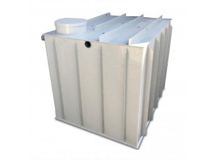 3m3 hranatá nádrž na vodu k obetonování