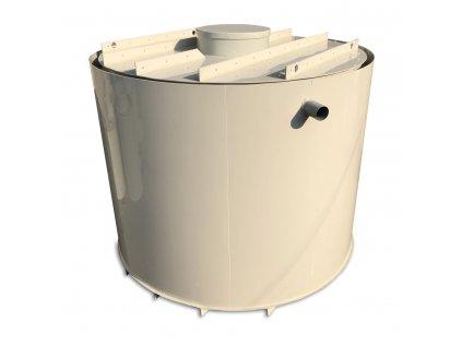 2m3 dvouplášťová kruhová nádrž na vodu