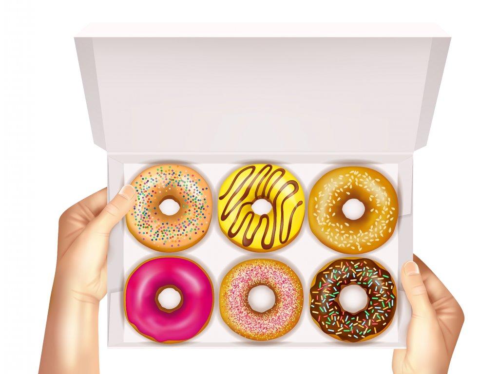 Krabička na donuty s vlastním potiskem