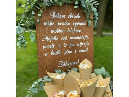 Svatební dřevěná tabule