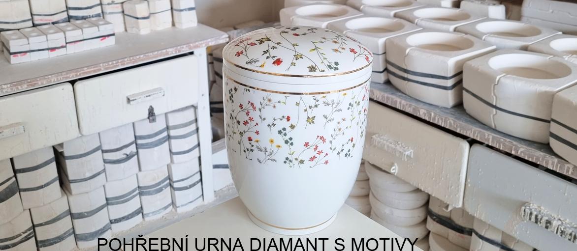Pohřební urna Diamant s motivy