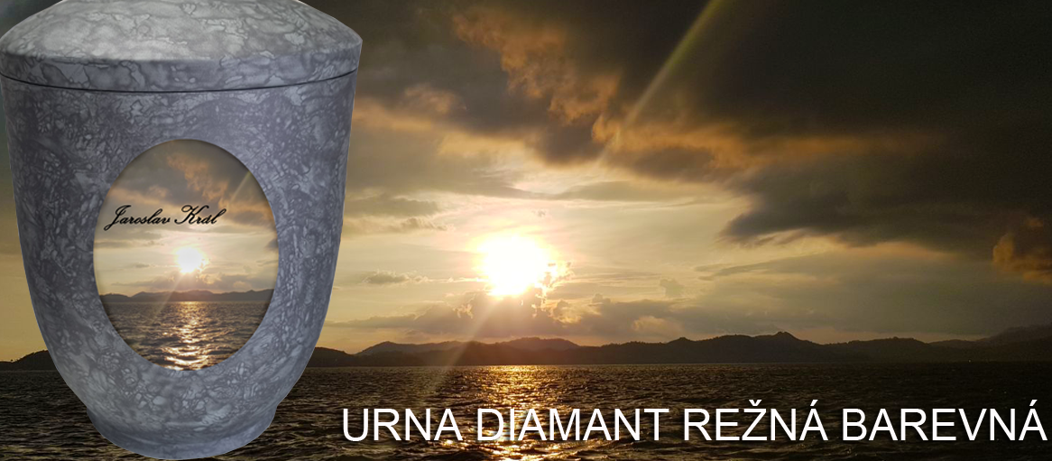Pohřební urna Diamant režná barevná
