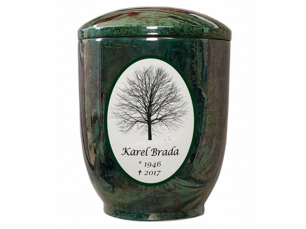 urna zelena strom text