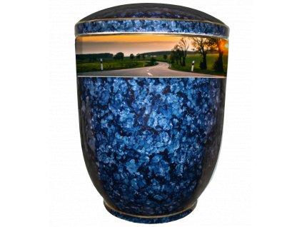 urna modry listr silnice