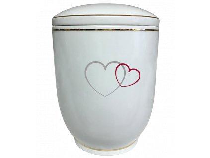 Urna Diamant - dvě srdce 2