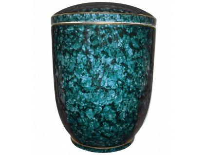 urna modry listr zelena