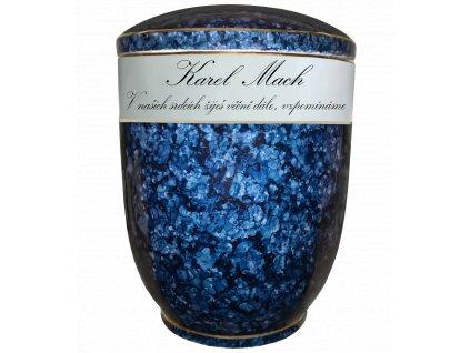 urna modry listr text v nasich srdcich