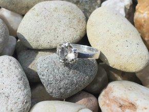 Originální stříbrný prsten s pravým českým citrínem