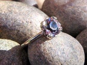 prsten ametyst vybrouseny cesky drahokam mineral kamen ceska mez prodej 5