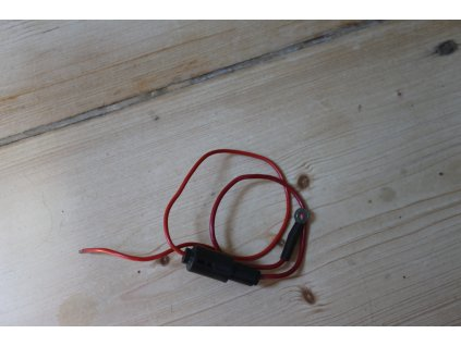 Kabel akumulátor - pojistka (pojistkové pouzdro orig. ČZ 487, 472)