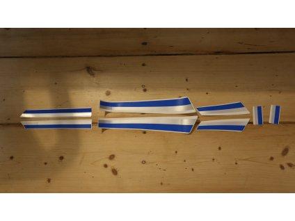 Sada samolepek ČZ (180/487.4) - modrostříbrné
