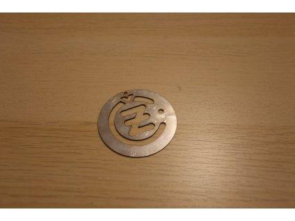Logo ČZ - nerez 0,5 mm, šablona