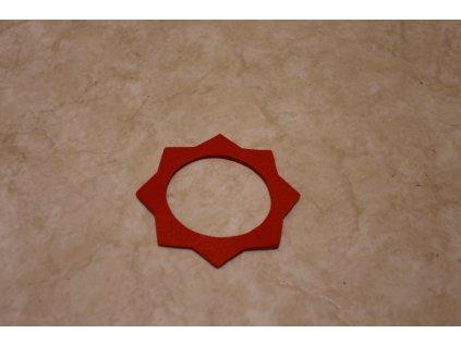 Filc pod víčko nádrže - červený ( Jawa,ČZ )