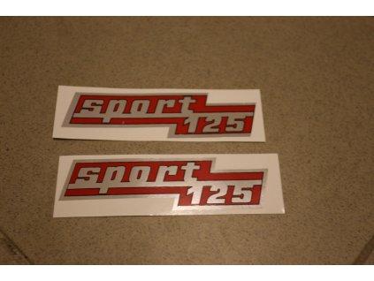 Nálepka ČZ 125 Sport - 2 ks