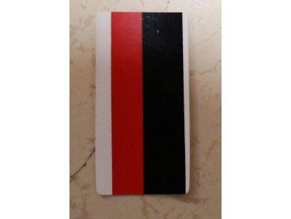 Nálepka kapotáže (červeno-černo-bílá)
