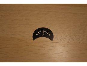 Štítek ampérmetru -pol vlevo, 8A (Pérák, kývačka)