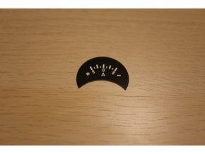 Štítek ampérmetru +pol vlevo, 8A (Pérák, kývačka)