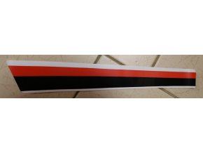 Nálepka levá přední (červeno-černo-bílá)