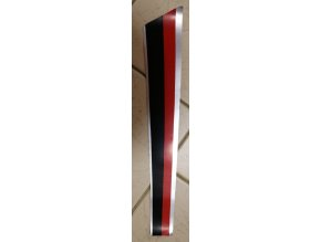 Nálepka levá přední (červeno-černo-stříbrná)