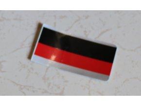 Nálepka kapotáže (červeno-černo-stříbrná)