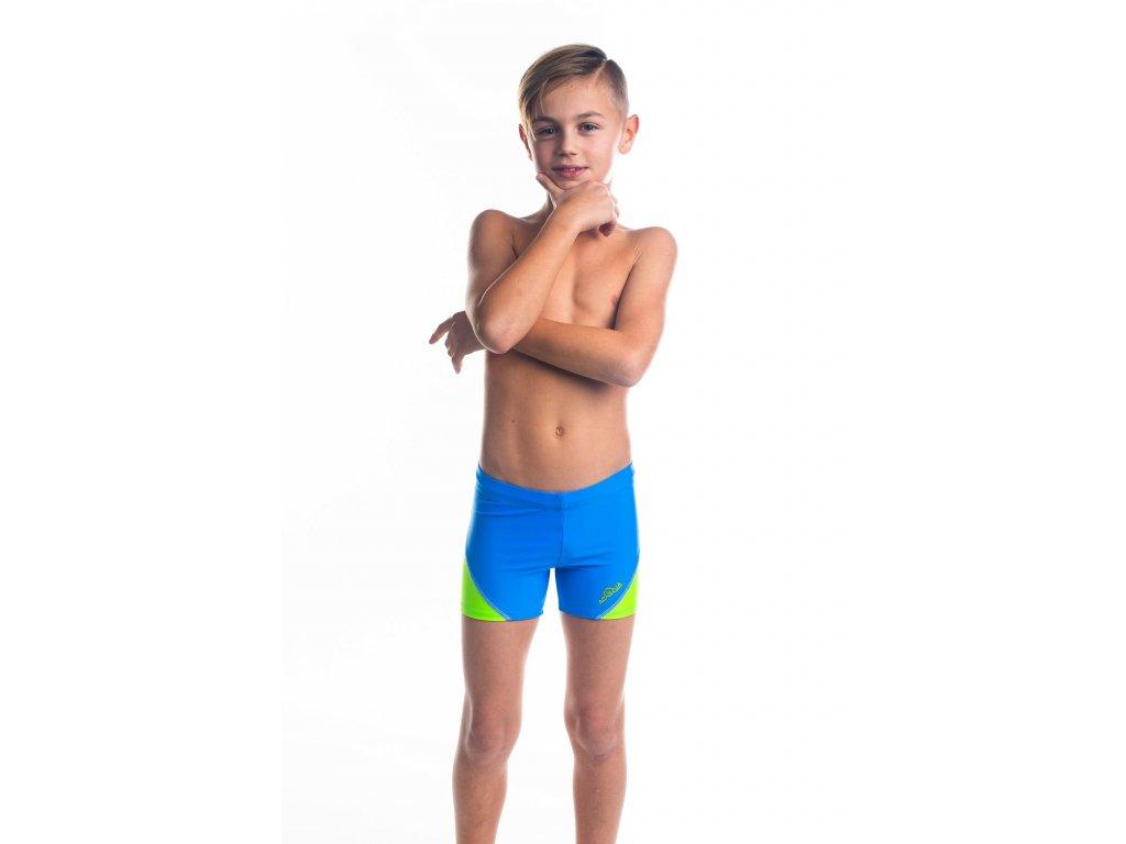 Chlapecké plavky s nohavičkou - modro-zelené