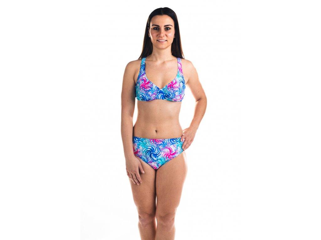 Dámské plavky dvoudílné - s barevným vzorem
