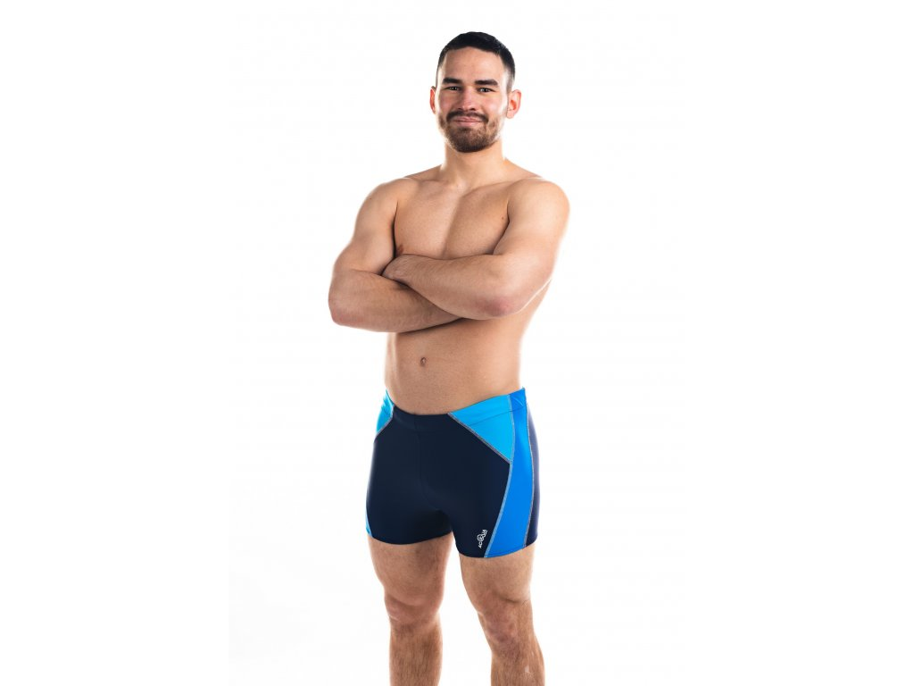 Pánské plavky s nohavičkou - kombinace modré s tyrkysovou