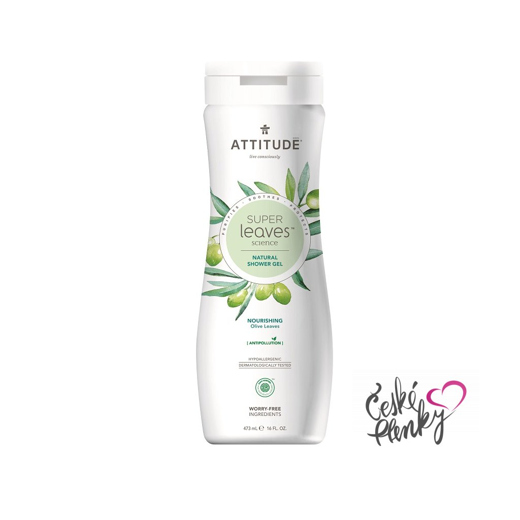 attitude super leaves sprchovy gel olive