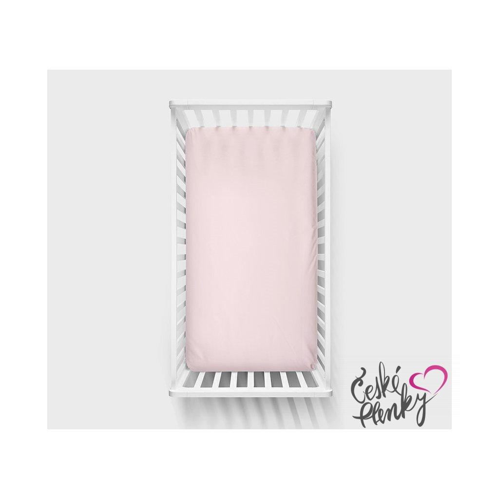 Bavlněné prostěradlo 140x70cm Růžová