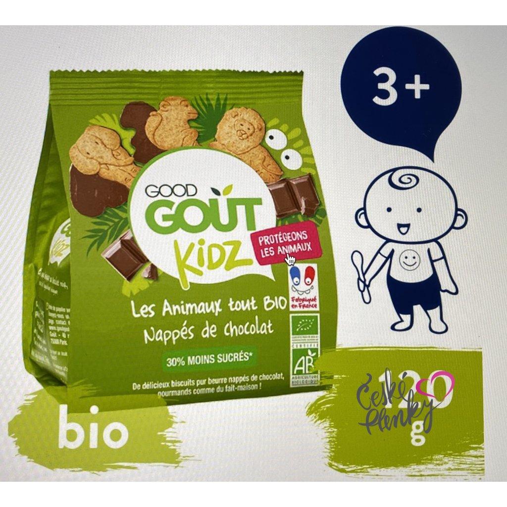 5477 good gout bio maslova zviratka polomacena v horke cokolade 120 g