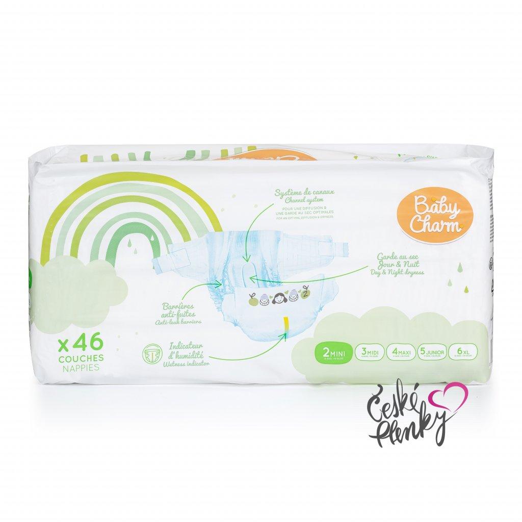 72 baby charm super dry flex vel 2 mini 3 6 kg 46 ks