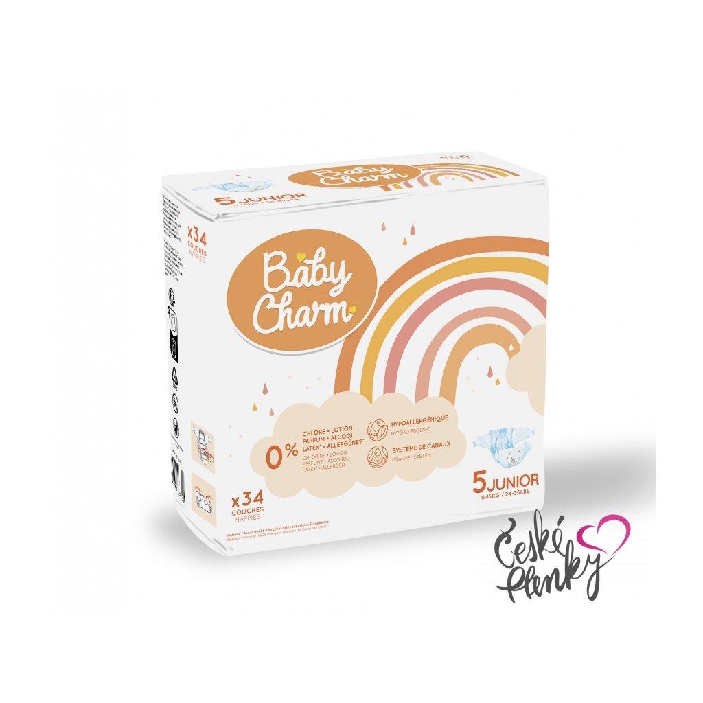 81 baby charm super dry flex vel 5 junior 11 25 kg 34 ks