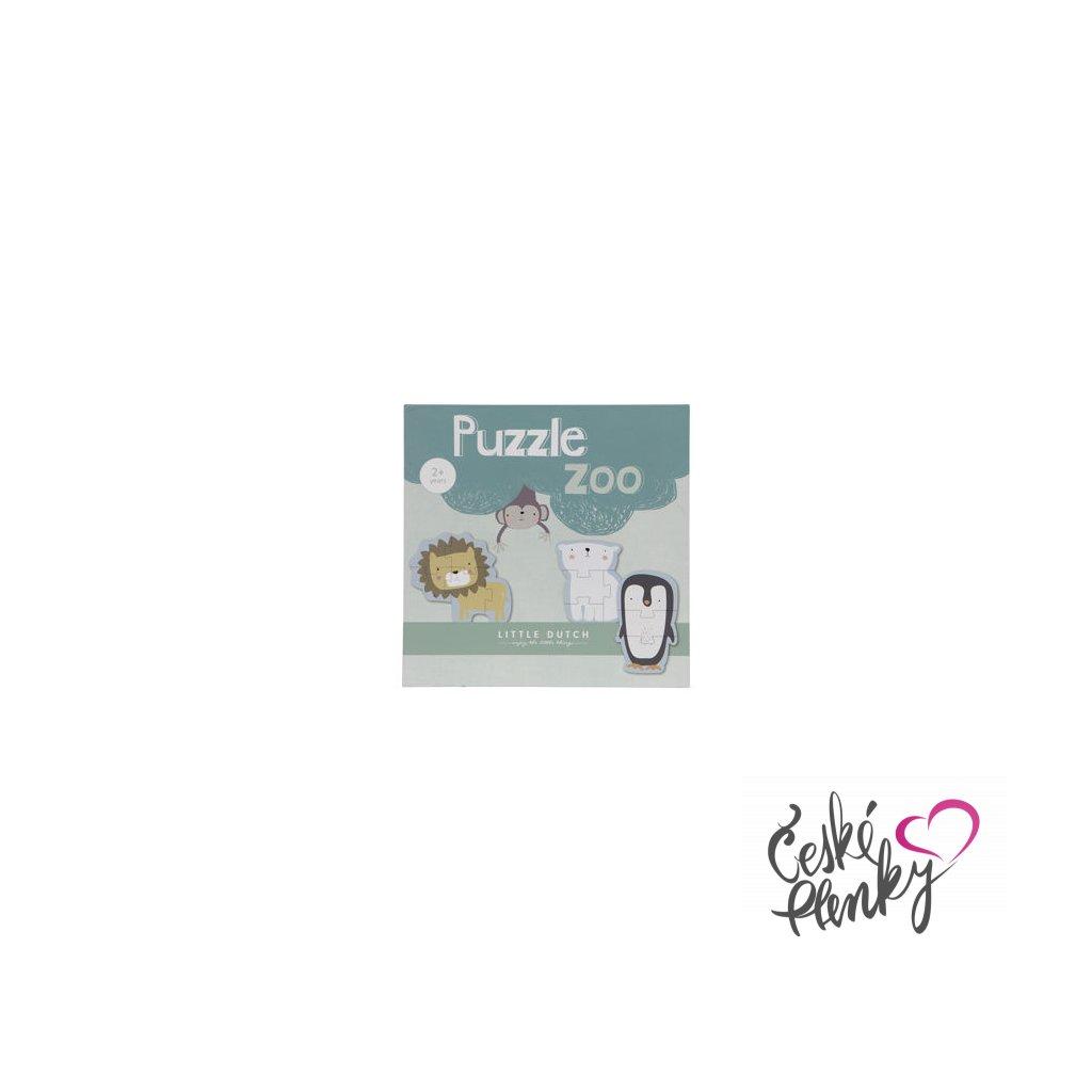 7319 little dutch drevene puzzle zoo