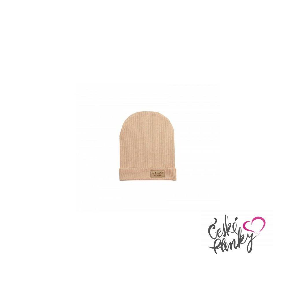 Přechodová čepice pro děti Béžová XS