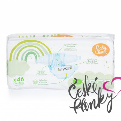 72 baby charm super dry flex vel 2 mini 3 6 kg 46 ks