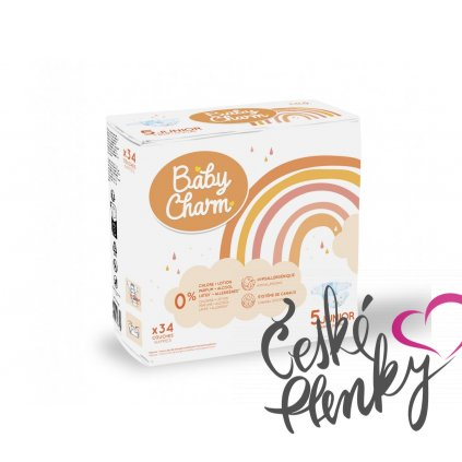 81 baby charm super dry flex vel 5 junior 11 25 kg 34 ks