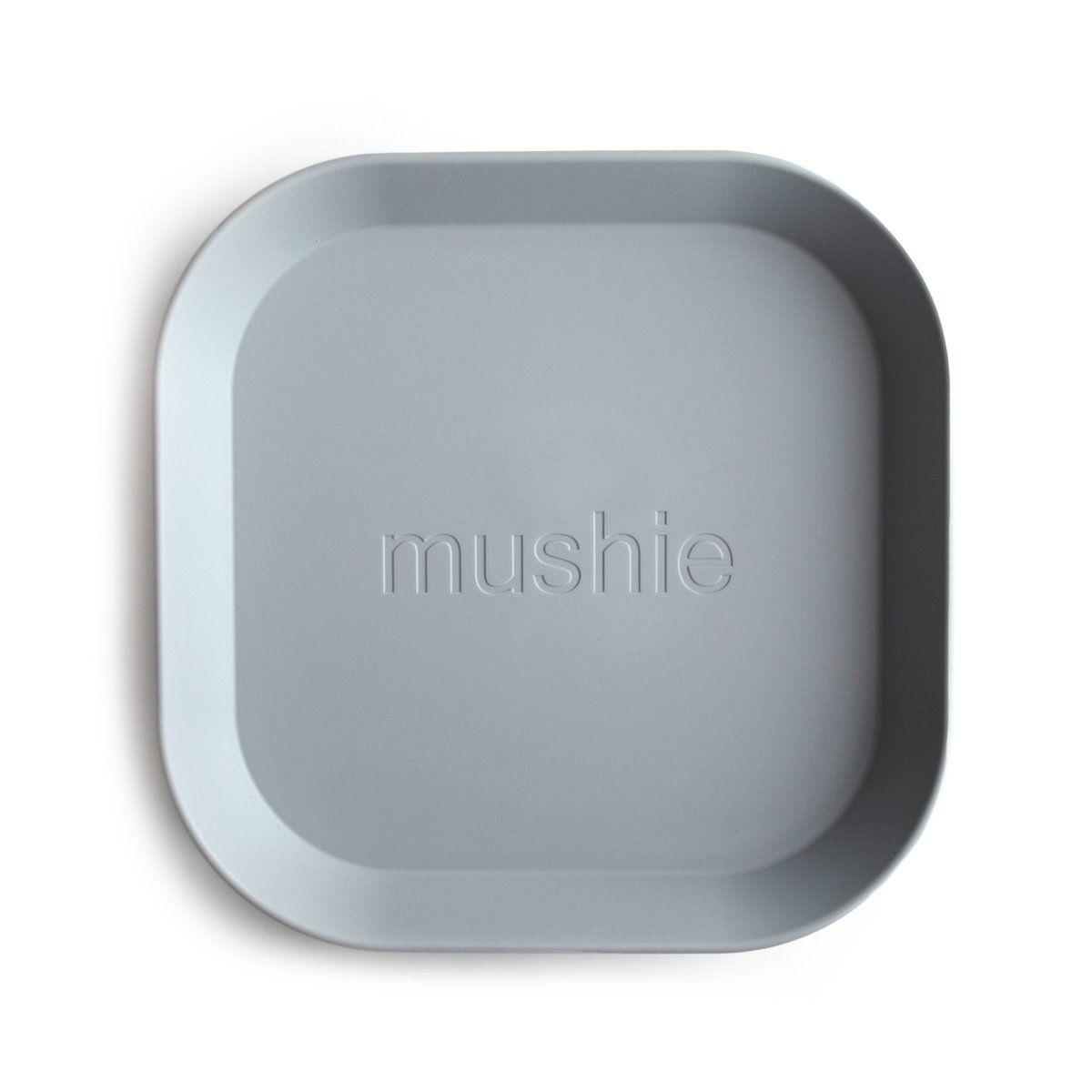 Mushie - hranatý talíř 2ks - Cloud