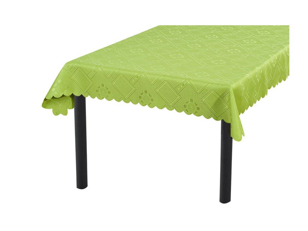 Žakárový ubrus KUBE zelený 90x90 cm