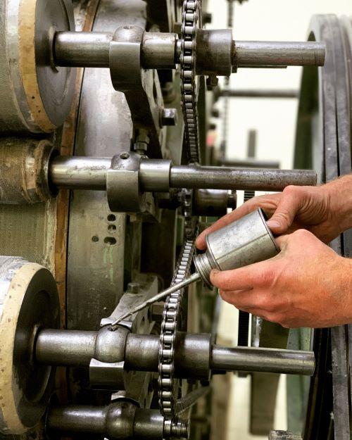 Pravidelná údržba strojů