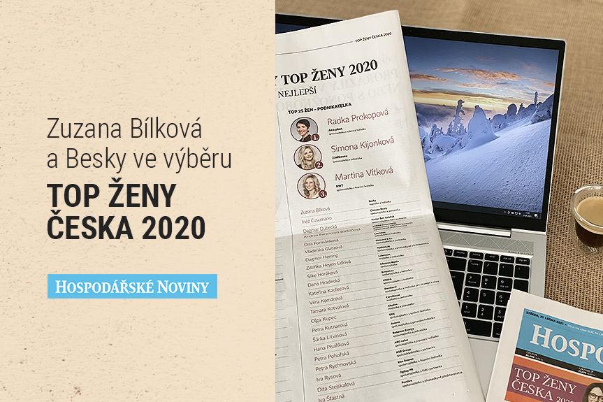Zuzana Bílková a Besky ve výběru TOP ŽENY ČESKA 2020 — Hospodářské noviny