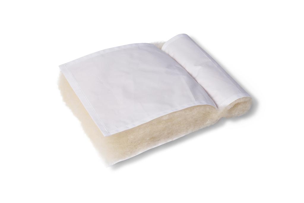 Vlněné válečky Barva povrchové látky: 100% bavlna - bílá