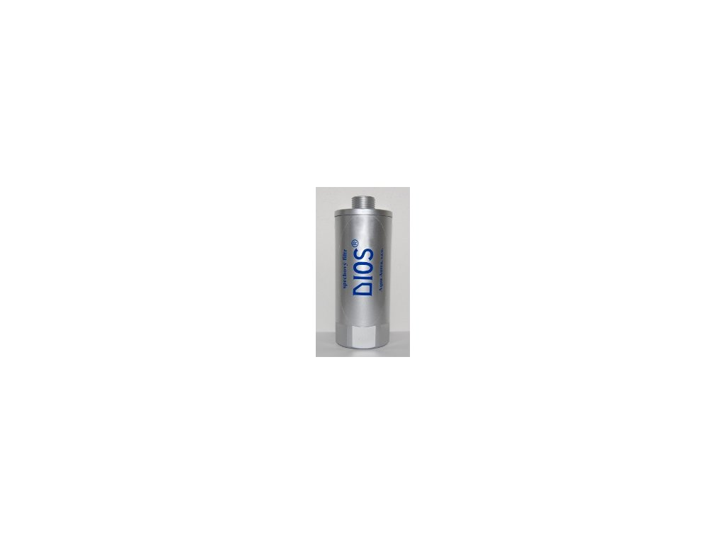DIOS – sprchový odchlorovací filtr, pokovený
