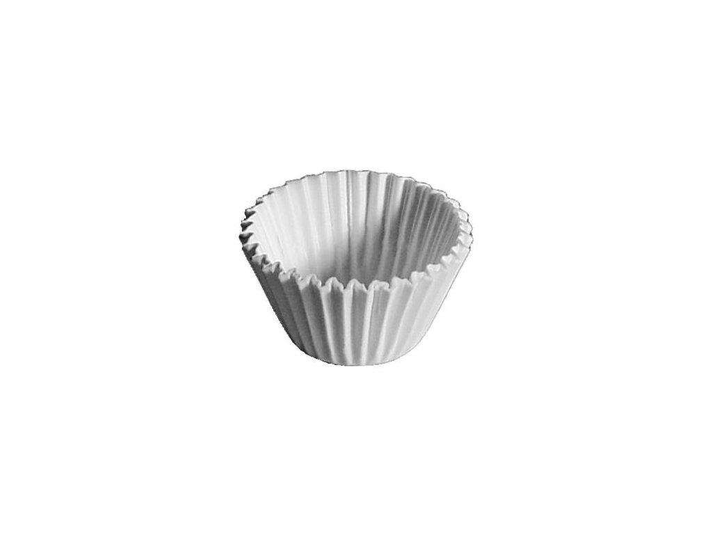1175 kosicek d35x20mm 100ks bily papir muffiny