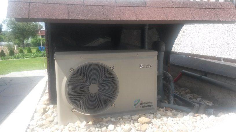 Umístění bazénového tepelného čerpadlo pod stříšku