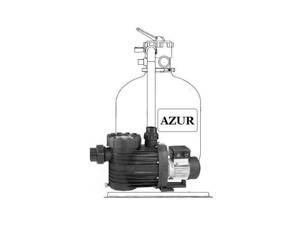 Filtrační zařízení Azur KIT 480 9m3hod 1 na paletě s čerpadlem Bettar 2