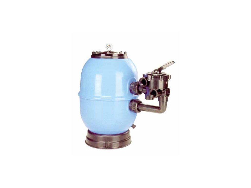 Filtrační nádoba Lisboa 750 mm, průtok 21 m3h 1, boční ventil 1