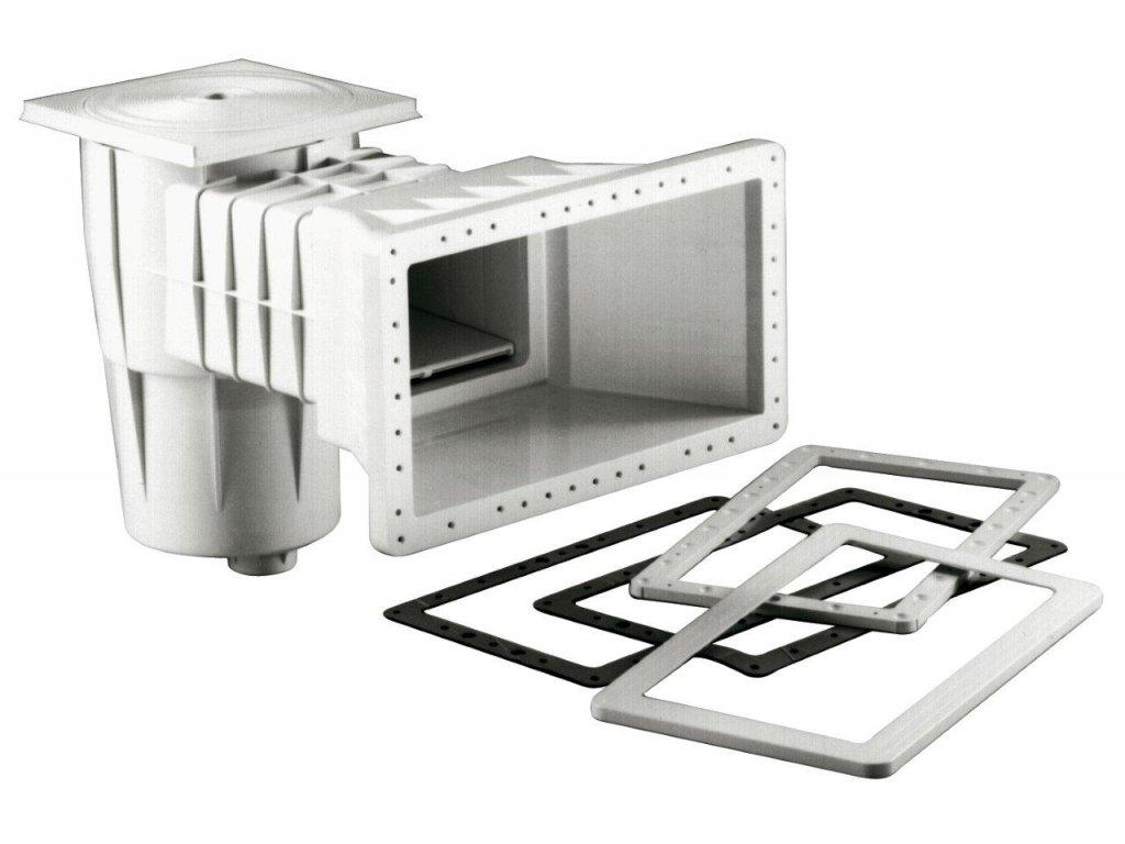 Skimmer Kripsol sání 400 mm x 230 mm, pro fólie, s vak. kotoučem 1